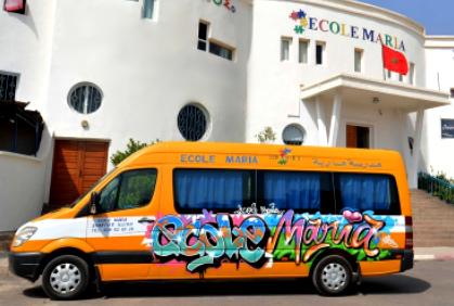 Transport scolaire privé - école maria collège lycée Agadir